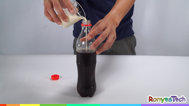 Cola and Milk Experiment Step1