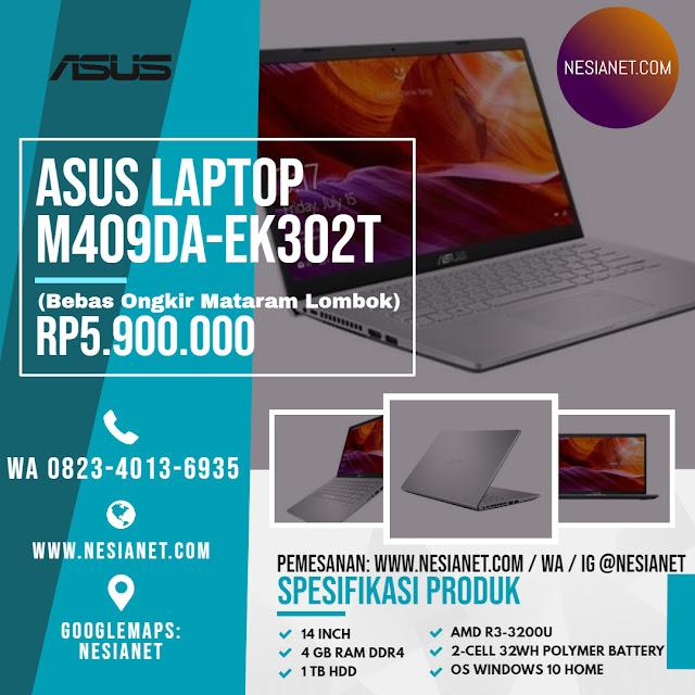 Jual ASUS M409DA-EK302T Laptop - Silver Mataram Lombok