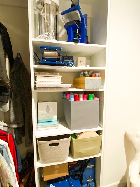 craft room, home office, silhouette cameo, heat press, craft room storage