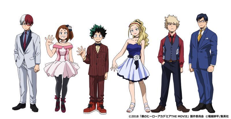 My Hero Academia THE MOVIE: Futari no Hero - personajes