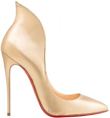 Golden Christian Louboutin Mea Culpa pumps #brilliantluxury