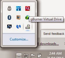 gBurner Virtual Drive Tray Icon