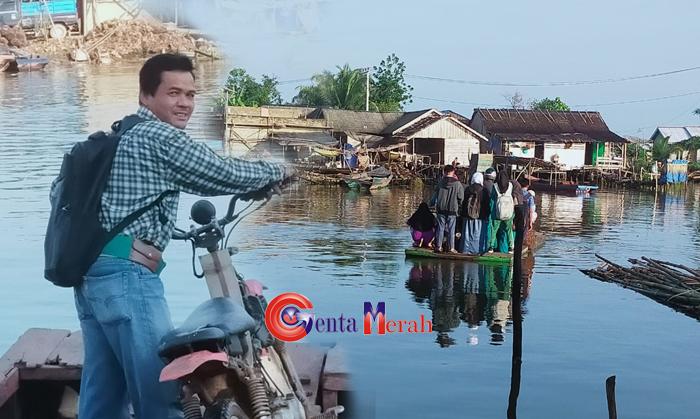 Seperti Dianak Tirikan, Warga Bantaran Sungai Mesuji Impikan Jembatan Penghubung