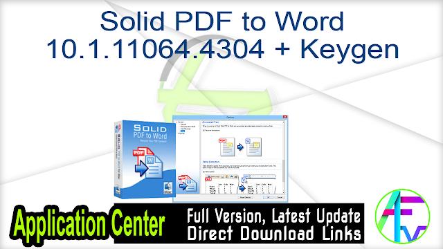 Solid PDF to Word 10.1.11064.4304 + Keygen