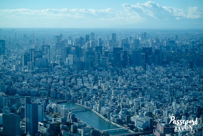 Vue sur Tokyo depuis la Skytree