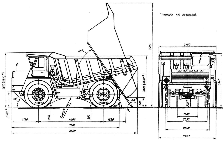 Transpress Nz Belaz 548a Dump Truck Russia