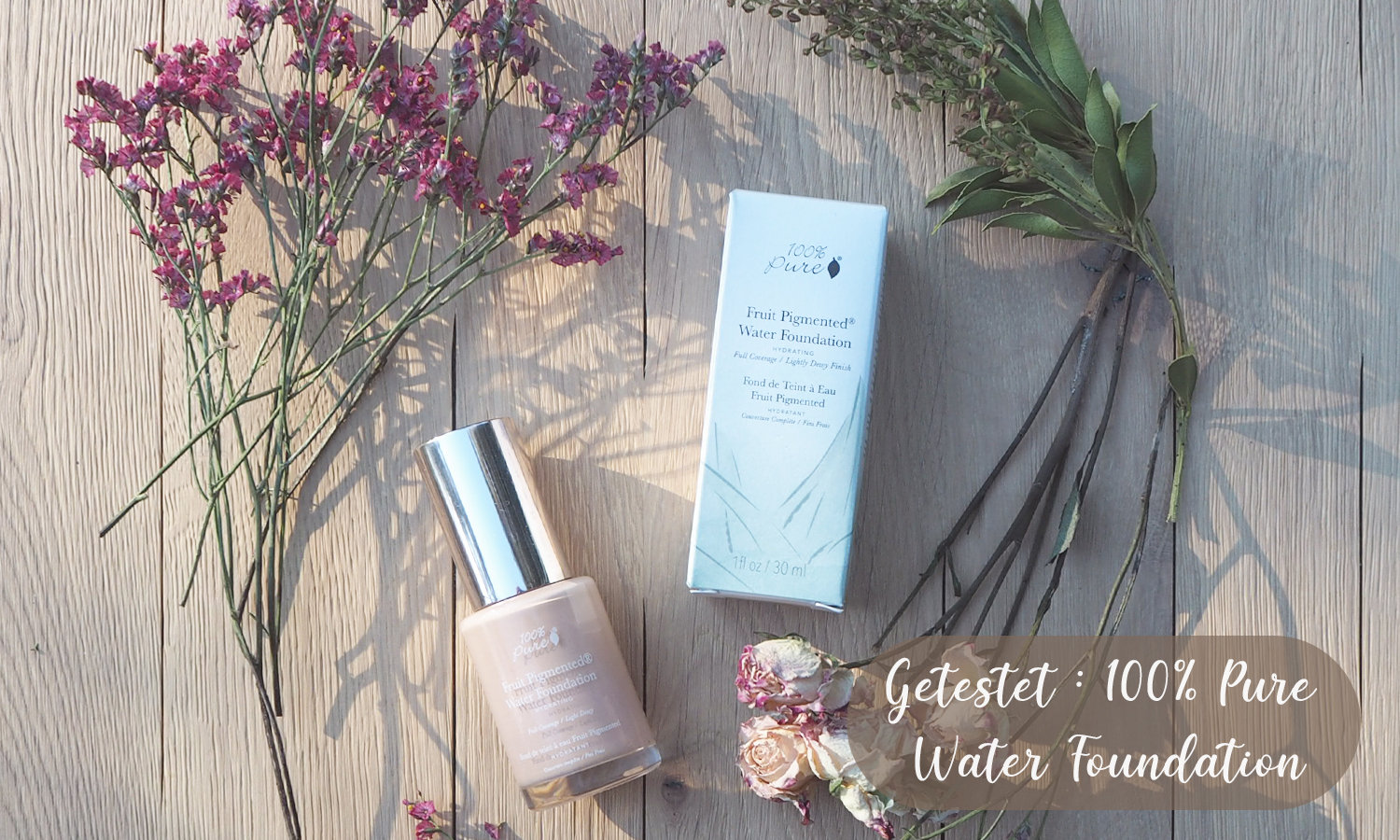 100% Pure Full Coverage Water Foundation getestet