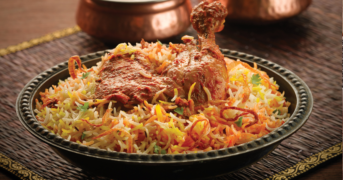 The famed Mughlai biryani which was served to the Nawabs of yesteryear is rich in flavour with curd, almond paste, tender chicken and dry fruits.