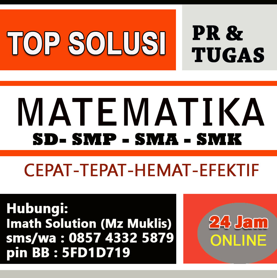 Imath Solution Jasa Pengerjaan Tugas Rumah Dan Pr Matematika