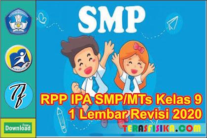 Download RPP IPA SMP/Mts Kelas 9 1 Lembar Semester 1