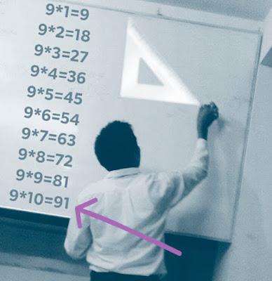 Un día, un profesor escribió así en la pizarra: