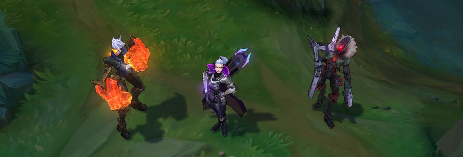 Three new PROJECT skins are now available - 1350 RP skins for Jhin \u0026 Vi and 1820 legendary skin for Vayne!