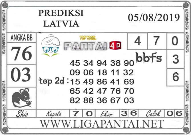 "PREDIKSI TOGEL ""LATVIA"" PANTAI4D 05 AGUSTUS 2019"