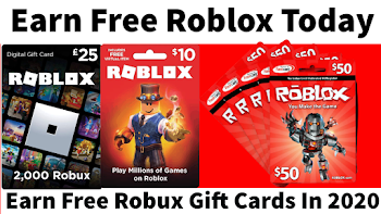 Earn Free Robux Gift Cards In 2020