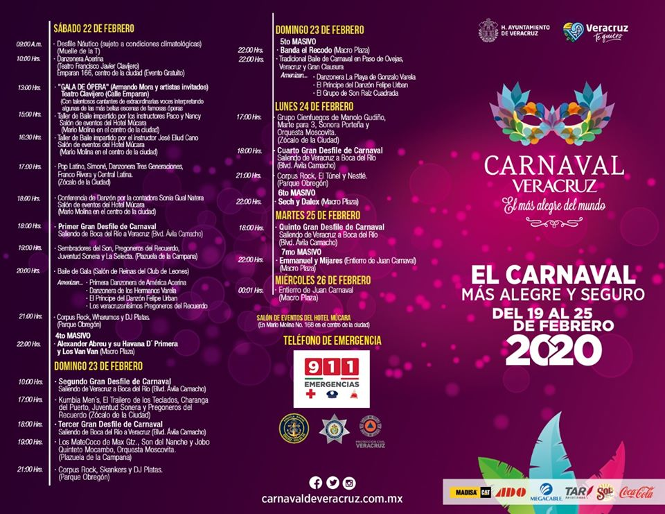 Programa Carnaval Veracruz 2020 segunda semana