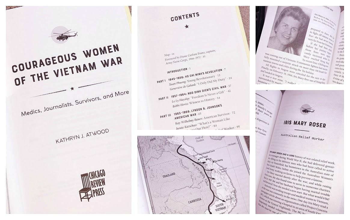 A Vintage Nerd, Vietnam War, Women in Action History Books, Vietnam War Book, Kathryn Atwood Books, Courageous Women of the Vietnam War,  Chicago Review Press