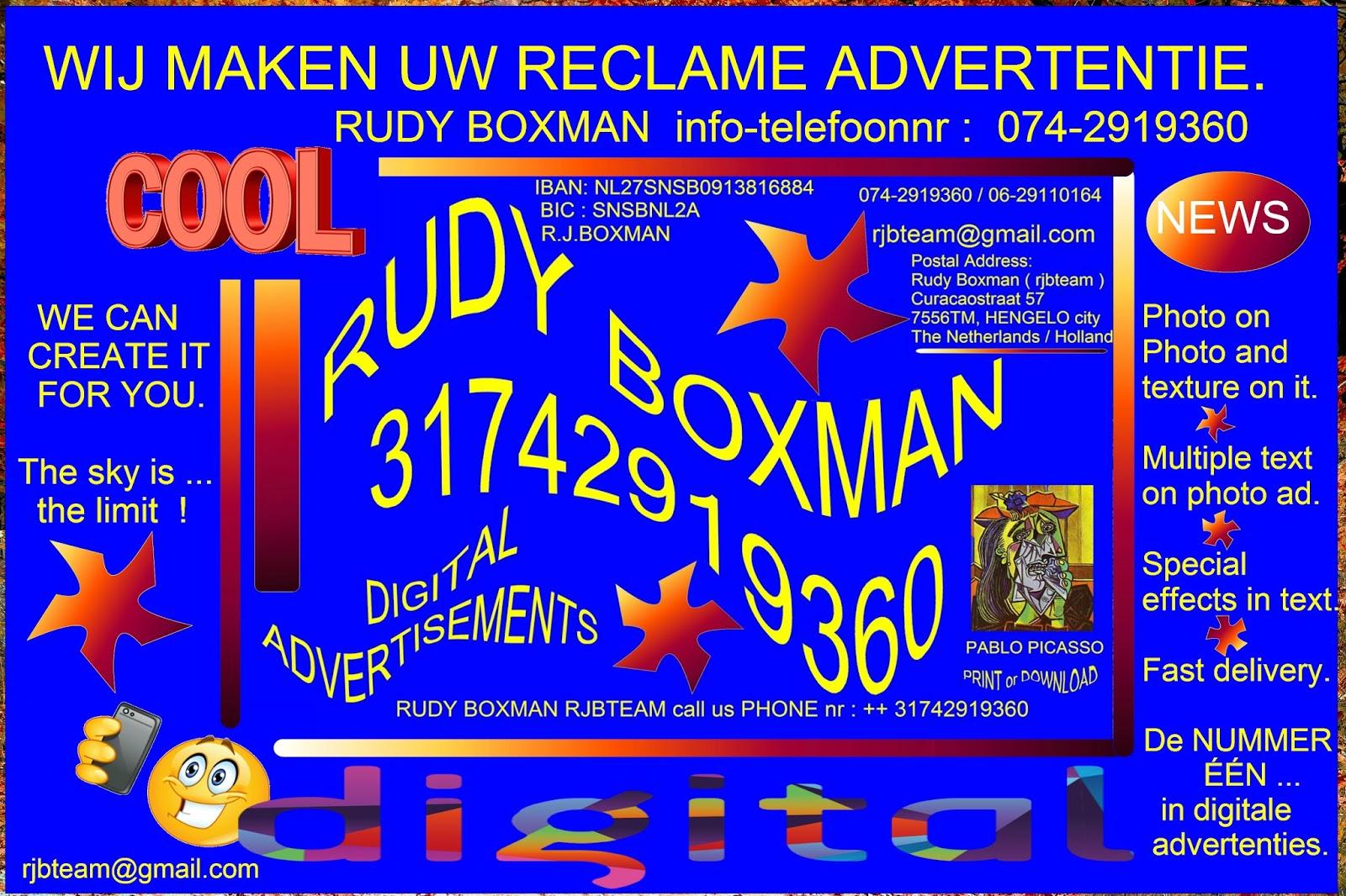 Nederland Amsterdam Hengelo Enschede Almelo DigitalMarketing News Nieuws VOOR AL UW DIGITALE ADVERTENTIES RUDY BOXMAN Telefoon Nr 074 2919360 Sms
