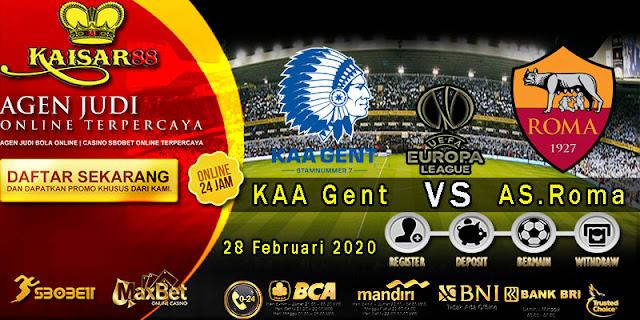 Prediksi Bola Terpercaya Liga UEFA Europa KAA Gent vs AS Roma 28 Februari 2020