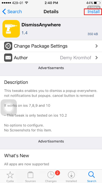 Here's is how you can install and remove multiple cydia tweaks and jajilbreak apps at once on iPhone/iPad running iOS 10.2/10.1.1/10/9 or below.