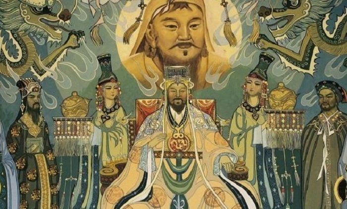 Ilustrasi Genghis Khan. Providr
