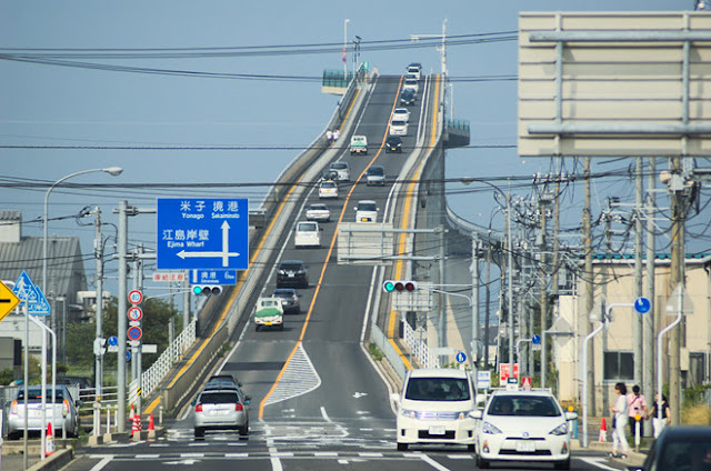 Eshima Ohashi bridge, Japan.