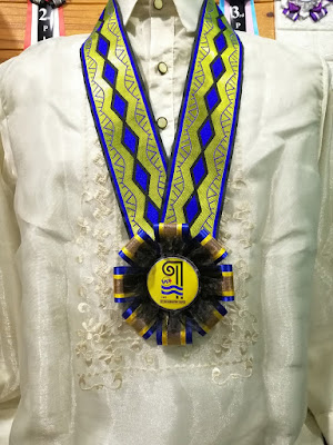 Lei for Guest Speaker worn in a Barong Tagalog ordered by the United Architects of the Philippines - San Juan Mandaluyong Chapter