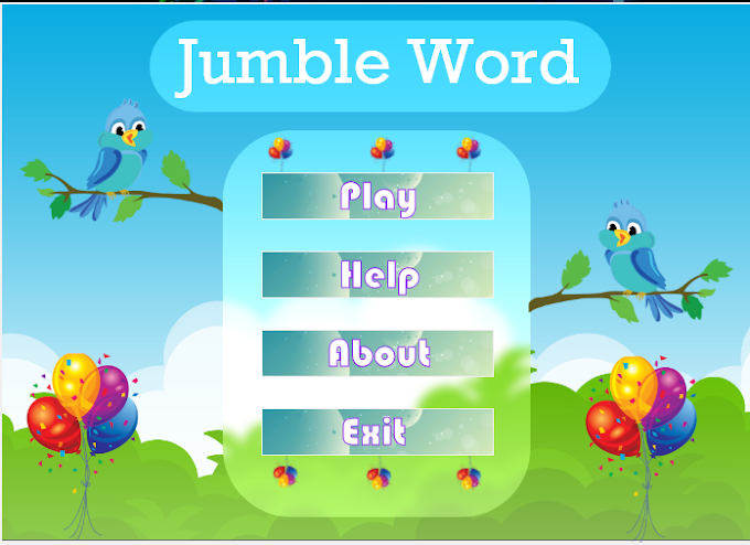 Jumble words Python game project Project with modern UI Download | diploma level Python Project | final year project|