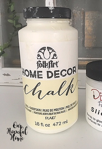 Folk Art Home Decor Chalk Paint Sheepskin 16 oz. jar