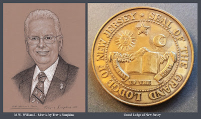 M.W. William L. Morris. Past Grand Master. Grand Lodge of New Jersey. by Travis Simpkins