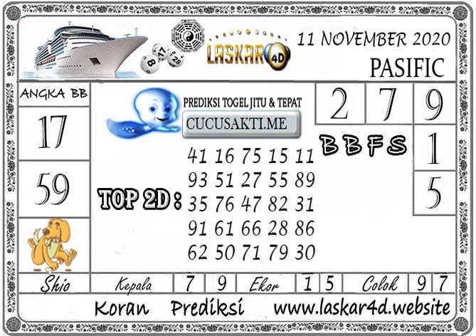 Prediksi Togel PASIFIC LASKAR4D 11 NOVEMBER 2020
