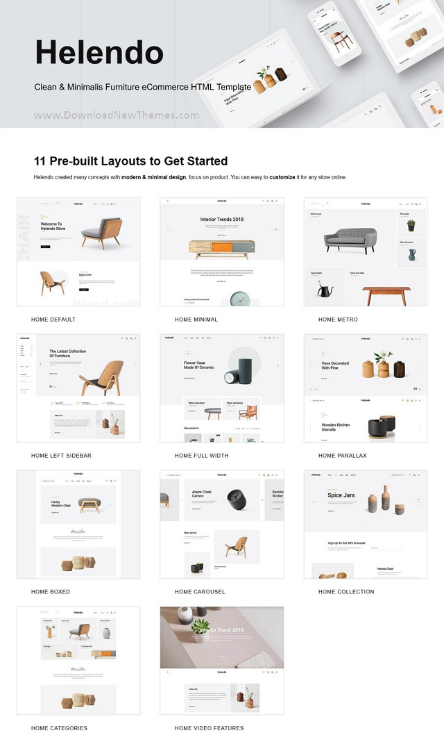 Furniture eCommerce HTML Template