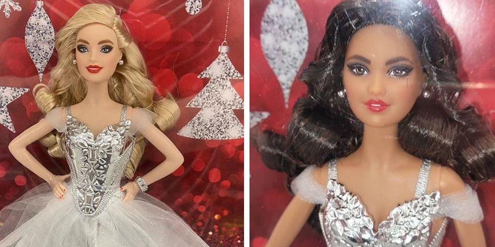 Фотографии коллекционной куклы Barbie 2021 Happy Holiday