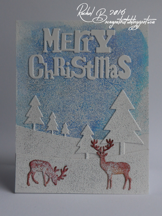 Scrapatout - Handmade card, Christmas, Impression Obsession. Winter