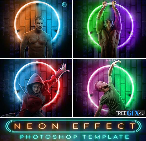 Neon Effect - Photoshop Template
