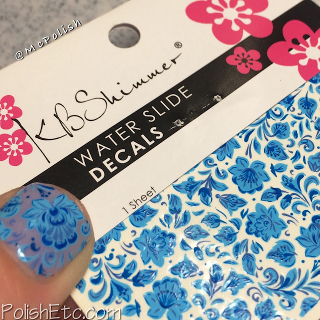 Day 5: Blue Nails for the #31dc2015 by McPolish - KBShimmer decals