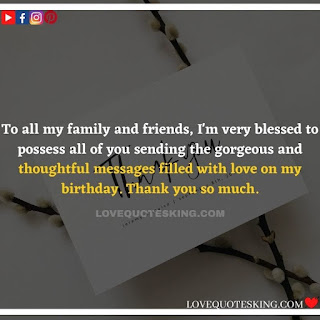 Thank you quotes for birthday wishes | Thank You Messages for Birthdays | Thank you messages for birthdays | Birthday thanks message