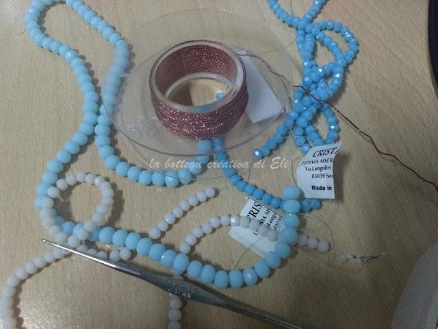 materiale per realizzare gli orecchini ad uncinetto