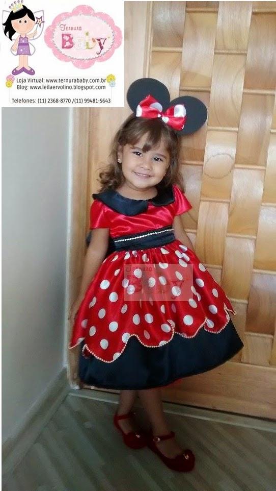 Vestido Minnie Vermelha Mae E Filha