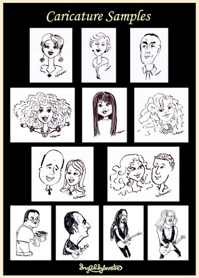 Caricature samples by UK caricaturist Ingrid Sylvestre - Durham