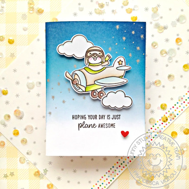 Sunny Studio Stamps: Plane Awesome Everyday Card by Franci Vignoli