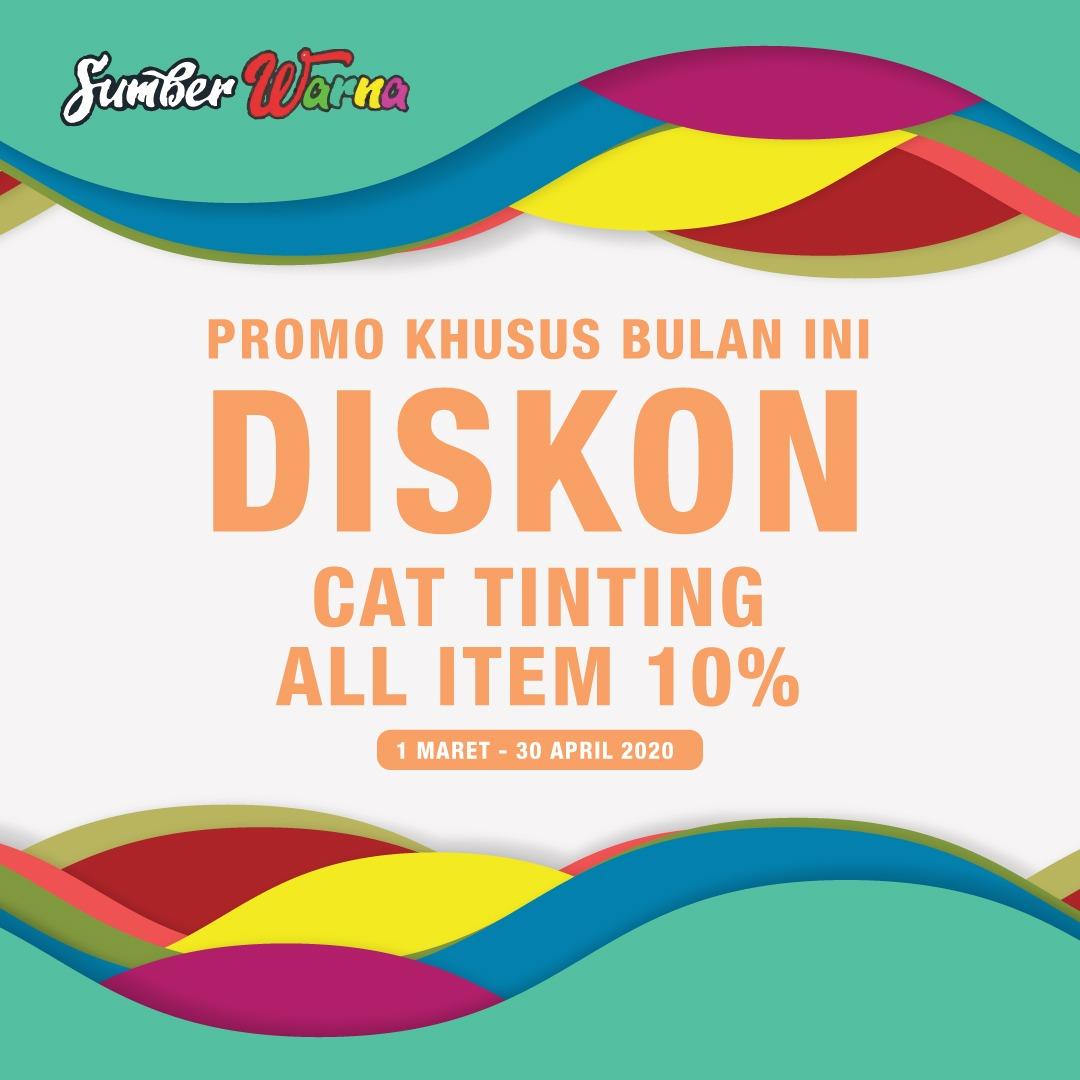 Promo Khusus, Toko Sumber Warna Berikan Diskon 10 Persen untuk Pembelian Cat Tinting