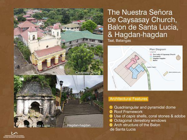 Nuestra Señora de Caysasay Church, Balon de Santa Lucia and Hagdan-hagdan