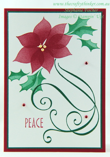 #thecraftythinker  #stampinup  #stylishchristmas  #cardmaking  #christmascard  #xmascard , Stylish Christmas, Christmas Card, Xmas Card, Stampin' Up Australia Demonstrator, Stephanie Fischer, Sydney NSW