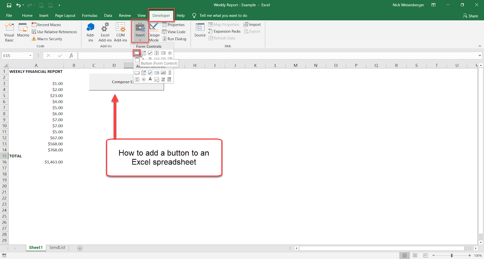 Excel Spreadsheets Help How To Send Email From Excel With