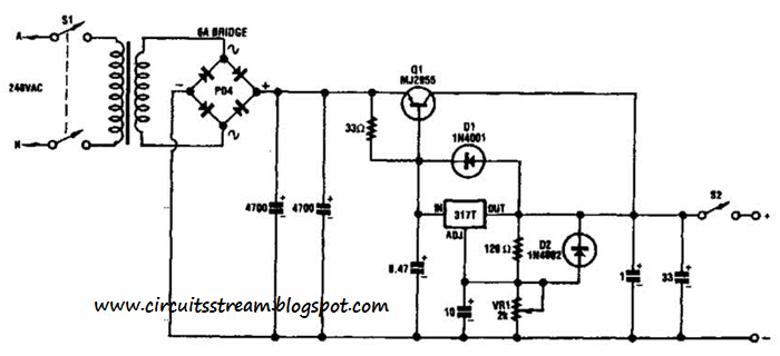 Best Adjustable 20v Supply Circuit Diagram