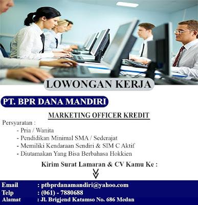 Lowongan Kerja Lulusan SMA SMK Medan Januari 2020 Marketing Officer Kredit