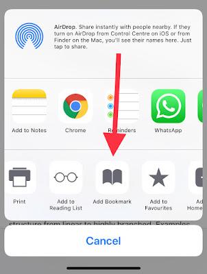 How to add bookmarks in safari