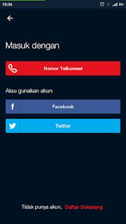 cara daftar akun di maxstream telkomsel