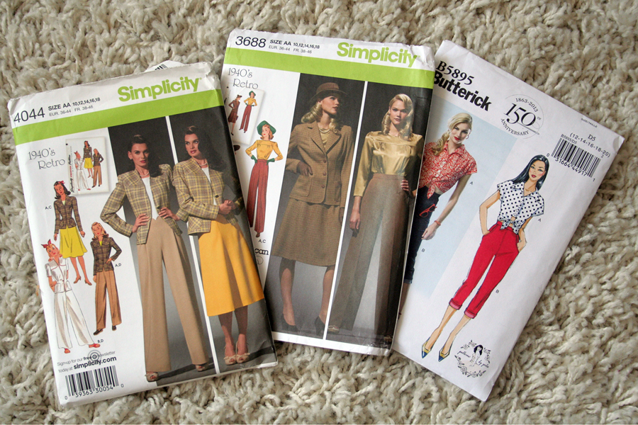 Fall For Cotton A Sewing Challenge LIghtfields 1940's Slacks/trousers/pants pattern