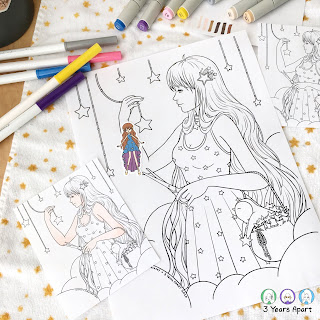 3 Years Apart Lulu Star Collector Coloring Page Free Printable